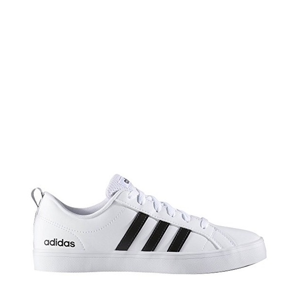 0447410aa34 Adidas VS pace white with black stripes
